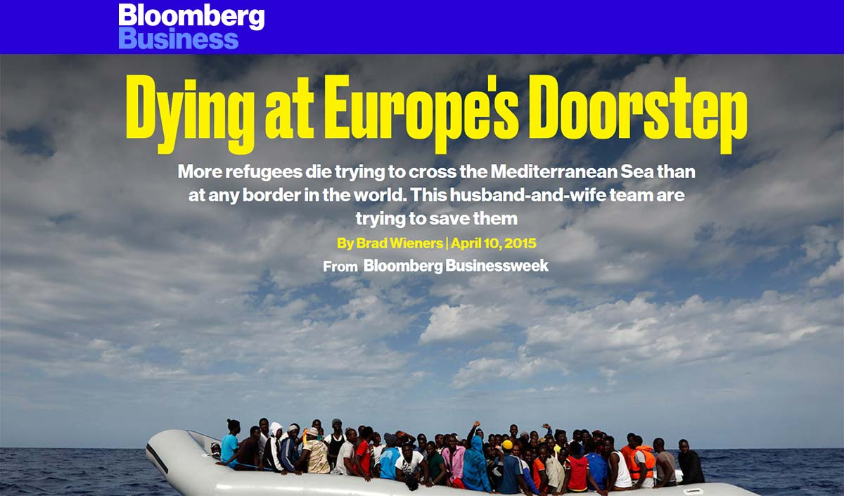 Dying at Europe's Doorstep - bloomberg