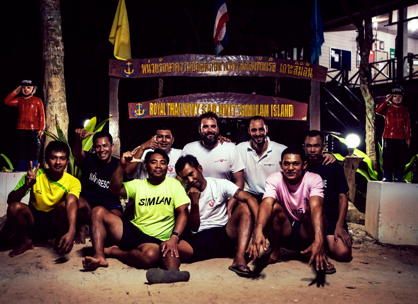 MOAS Asia and Thai Navy SAR Team on Similan Island, Thailand